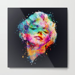 Marilyn portrait Metal Print