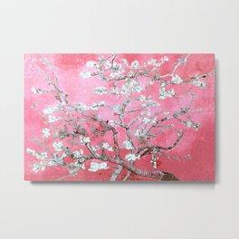 Van Gogh Almond Blossoms : Pink & Aqua Metal Print