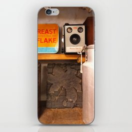 Breakfast cereals with a Brownie camera iPhone Skin