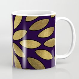 Classic Golden Flower Leaves Pattern Coffee Mug