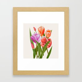 Colorful Flower Bouqet Painting Framed Art Print