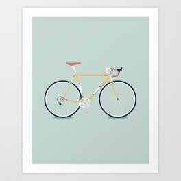 My Bike Yellow Art Print