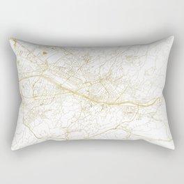 Florence Map Gold Rectangular Pillow