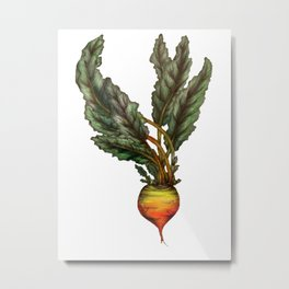 Rooted: The Golden Beet Metal Print