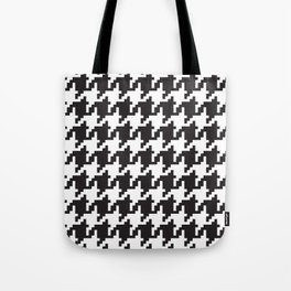 Houndstooth - Black & White Tote Bag