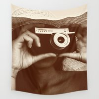 photographer Wall Tapestries featuring Photographer by XfantasyArt