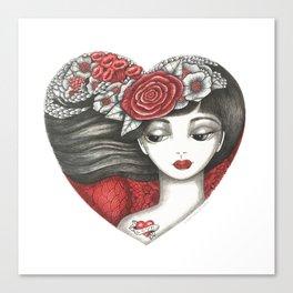 Valentine Girl Canvas Print