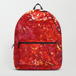 FIERY RED - FALL LEAVES Backpack