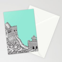 Great Wall of China (Mint Green) Stationery Cards