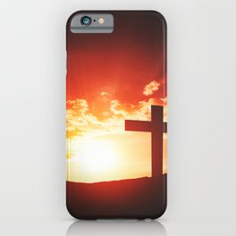 Good friday easter concept iPhone Case