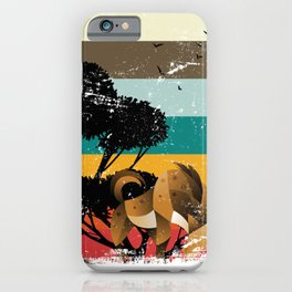 Abstract Hyena iPhone Case