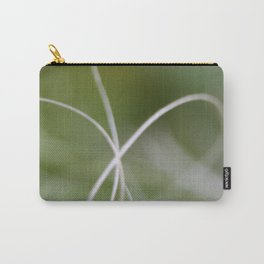 Macro of A Green Palm Tree Leaf  Fond Carry-All Pouch
