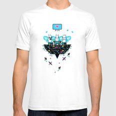The Social Butterflies SMALL Mens Fitted Tee White