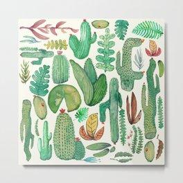 nature pattern collab. Metal Print