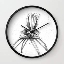 Contortionist at rest Wall Clock