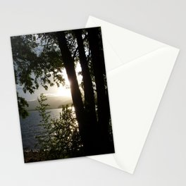 Twin Lakes Tree Silhouette  Stationery Cards