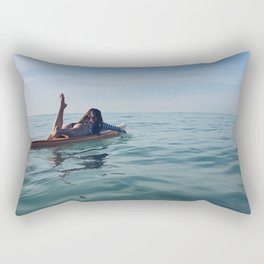 Paddle Girl Rectangular Pillow