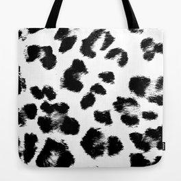 Black & White Leopard Print Tote Bag