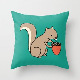 Squire squirrel Throw Pillow