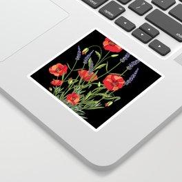 Poppies & Lavendar Sticker