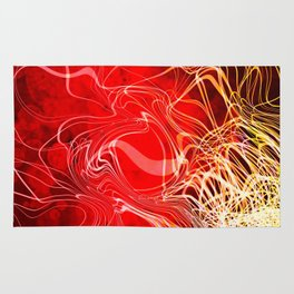 Linear Chaos Red Rug
