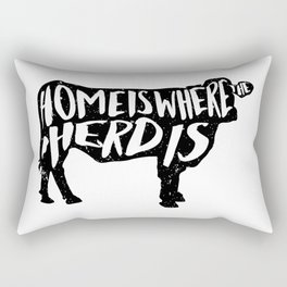 Home Is Where The Herd Is Rectangular Pillow