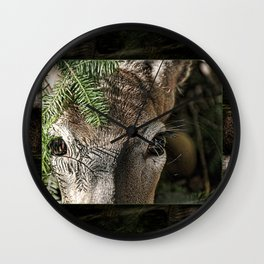 Whitetail Doe Camouflaged Deer Wall Clock