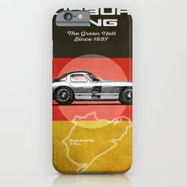Nürburgring Vintage 300SLR Uhlenhaut Coupe iPhone Case
