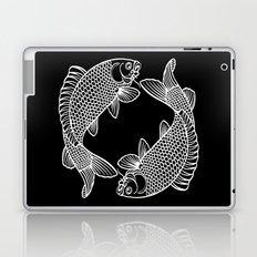 Black White Koi Laptop & iPad Skin
