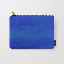 Subtle Cobalt Blue Waves Pattern Ombre Gradient Carry-All Pouch