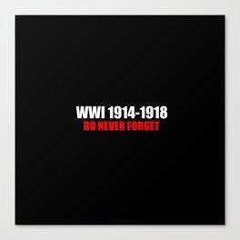Commemoration WWI 1914-1918 Canvas Print