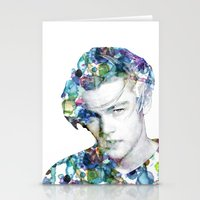 leonardo dicaprio Stationery Cards featuring Young Leonardo DiCaprio  by NKlein Design