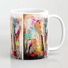 African Elephant Family Painting Coffee Mug
