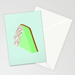 Piece of Key Lime Pie Stationery Cards