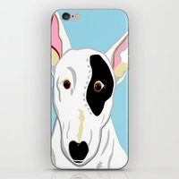 bull terrier iPhone & iPod Skins featuring Bull Terrier by EloiseArt