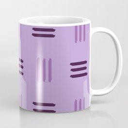 Mid Century Modern Patterned Lines (Mauve) Coffee Mug