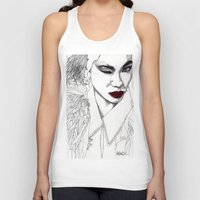 china Tank Tops featuring China Girl by Paul Nelson-Esch Art