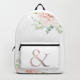 & - Floral Monogram Collection Backpack