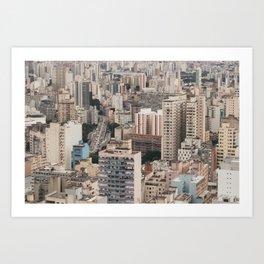city caos São Paulo Art Print