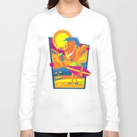 surfer Long Sleeve T-shirts featuring Surfer by Roberlan Borges