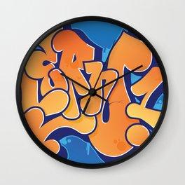 Lern 1 Bubblegum Graffiti NYC Wall Clock