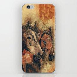Galloping Wild Mustang Horses iPhone Skin