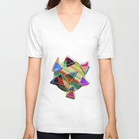 grid V-neck T-shirts featuring grid points by Matthias Hennig