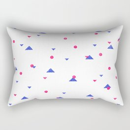 Triangle Explosion - Pink and Blue Rectangular Pillow
