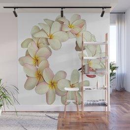 Plumeria Tropical Flower Garland Wall Mural