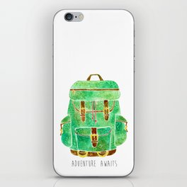 Backpack Adventure iPhone Skin