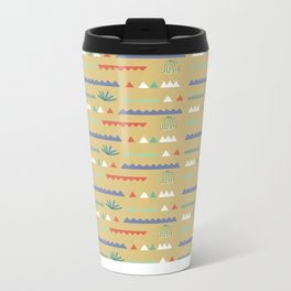 Geometrical Cacti Metal Travel Mug