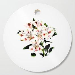 Pale Flowers Cutting Board