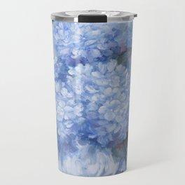 Hydrangeas in Blue Travel Mug