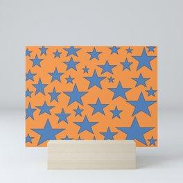 Blue Stars Mini Art Print